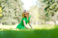 Woman enjoy nature Royalty Free Stock Images