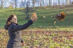 Woman enjoy nature Stock Image