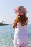 Woman enjoy sea Stock Photo