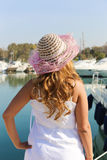 Woman enjoy on the sea Stock Image