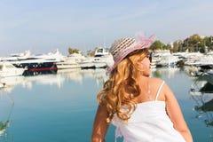 Woman enjoy on the sea Royalty Free Stock Photos