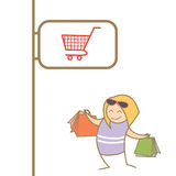 Woman enjoy shopping Stock Image