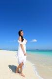 Woman enjoy the sun. Royalty Free Stock Photos
