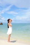 Woman enjoy the sun. Royalty Free Stock Photography