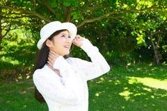 Woman enjoy the sun. Stock Photography