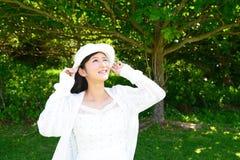 Woman enjoy the sun. Stock Images