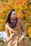 woman enjoying autumn Royalty Free Stock Photography