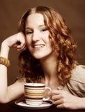 Woman enjoying coffee time Stock Photography