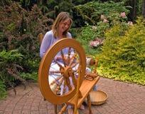 Woman Enjoying Craftsmanship Royalty Free Stock Photos