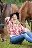 Woman enjoying day Royalty Free Stock Photography