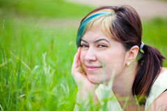 Woman enjoying a day outdoor Royalty Free Stock Images