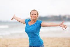 Woman enjoying freedom Stock Images