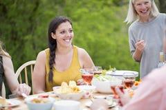 Woman Enjoying Garden Party Royalty Free Stock Images