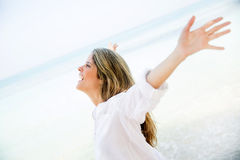 Woman enjoying her holidays Royalty Free Stock Photo