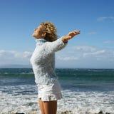 Woman enjoying life Stock Photography