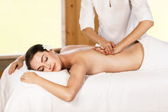 Woman enjoying massage. Stock Images