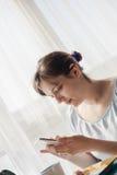 Woman Enjoying Morning At Home Royalty Free Stock Photos