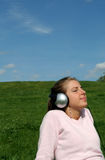 Woman Enjoying Music Royalty Free Stock Photos