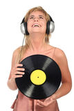 Woman Enjoying Music Stock Image