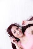 Woman enjoying the music Royalty Free Stock Image