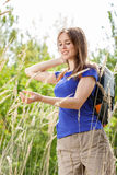 Woman enjoying nature Stock Photography
