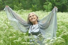 Woman enjoying on nature Royalty Free Stock Photography