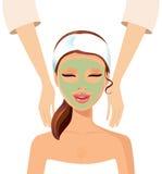 Woman enjoying relaxing wellness massage treatment concept Royalty Free Stock Photos