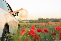 Woman enjoying summer vacation. royalty free stock photos