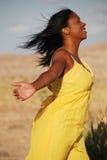Woman enjoying the sun. Stock Photos