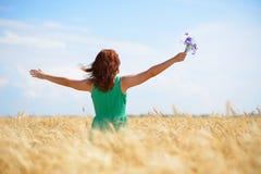 Woman enjoying sunlight Stock Photography