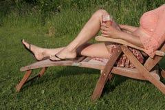 Woman enjoying a sunny day royalty free stock photography