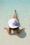 Woman enjoying a swimming pool Royalty Free Stock Photography