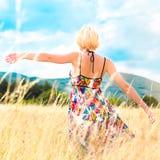 Woman Enjoying The Nature. Royalty Free Stock Image