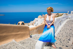 Free Woman Enjoying The View In Santorini Royalty Free Stock Photos - 95902708