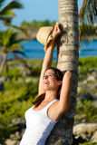 Woman enjoying tropical vacation travel Royalty Free Stock Photo