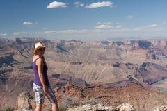 A woman enjoying the view Stock Image