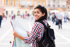 Woman Enjoying the Voyage Stock Image