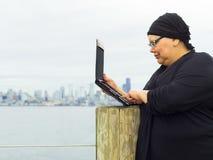 Woman Enjoys Lifestyle Post-Surgery Royalty Free Stock Photos