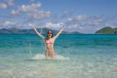 Woman enjoys summer. Royalty Free Stock Image