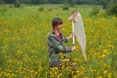 Woman entomologist 4 Royalty Free Stock Images