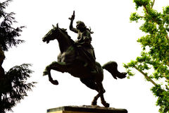 Woman equestrian statue Rome Italy Royalty Free Stock Image