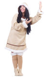 Woman eskimo Stock Photo