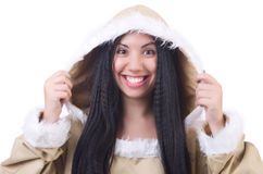 Woman eskimo Royalty Free Stock Image