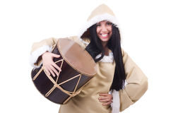 Woman eskimo Royalty Free Stock Photography