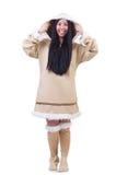 Woman eskimo isolated Royalty Free Stock Images