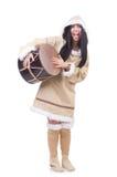 Woman eskimo isolated Royalty Free Stock Photography
