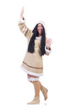 Woman eskimo Stock Images