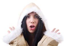 Woman eskimo isolated Stock Images