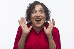 Woman estatic, horizontal Stock Photography