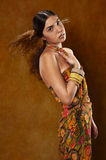 Woman in ethnic dress royalty free stock image